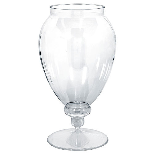 Large CLEAR Plastic Pedestal Apothecary Jar Image #1