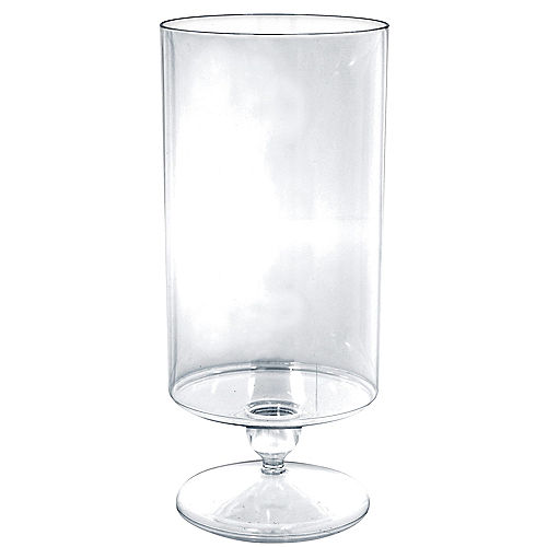 Tall CLEAR Plastic Pedestal Cylinder Container Image #1