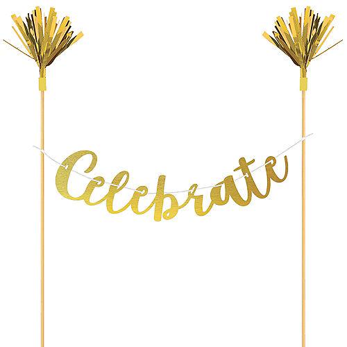 Celebrate Letter Banner Cake Topper Image #1