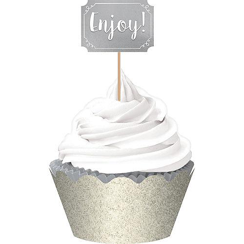 Silver Cupcake Decorating Kit for 24 Image #1