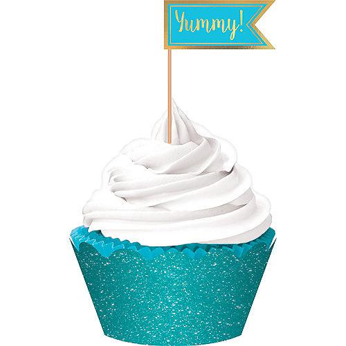 Caribbean Blue Cupcake Decorating Kit for 24 Image #1
