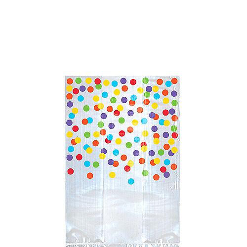 Rainbow Polka Dot Treat Bags 25ct Image #1