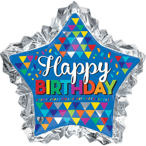Giant Scalloped Edge Star Birthday Balloon 36in Image #1