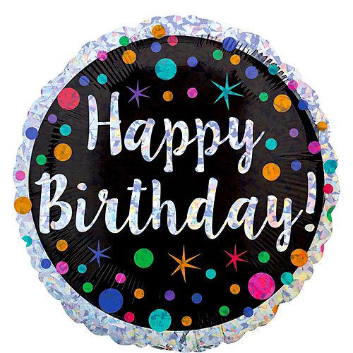 Prismatic Polka Dot Birthday Balloon 17 1/2in Image #1