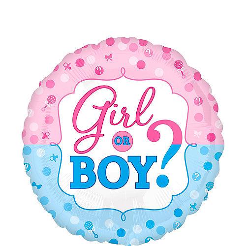 Girl or Boy Gender Reveal Balloon 16 1/2in Image #1