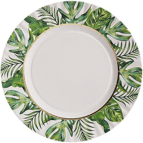 Tropical Wedding Dinner Plates 8ct Image #1