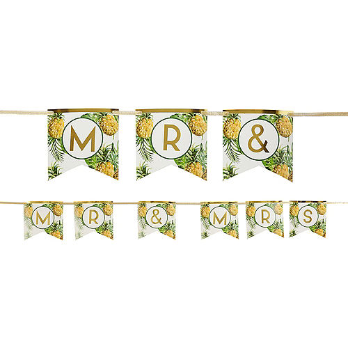 Tropical Wedding Pennant Banner Kit Image #1