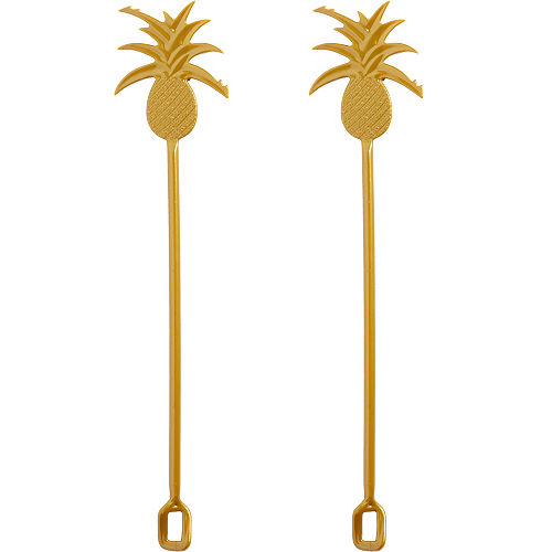 Gold Pineapple Drink Stirrers 16ct Image #1