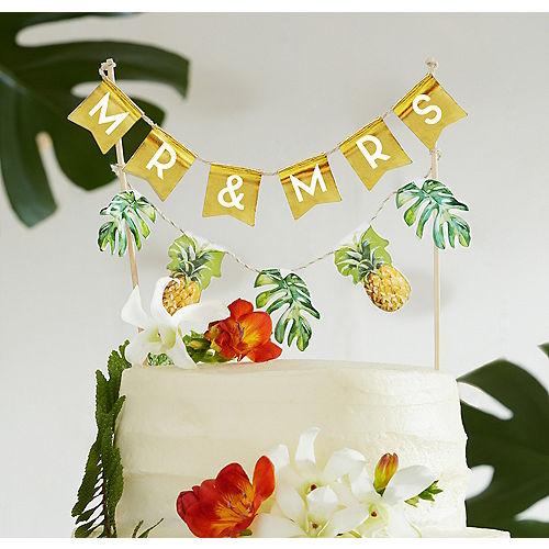 Tropical Wedding Cake Bunting Image #1
