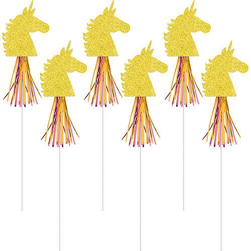 Glitter Magical Unicorn Wands 6ct Image #1