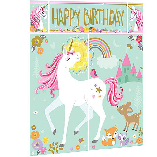 Magical Unicorn Scene Setter with Photo Booth Props Image #2