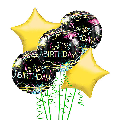 Nav Item for Neon Party Balloon Bouquet Image #1
