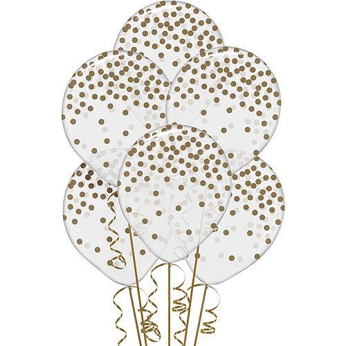 White & Gold 50th Happy Birthday Balloon Kit Image #4