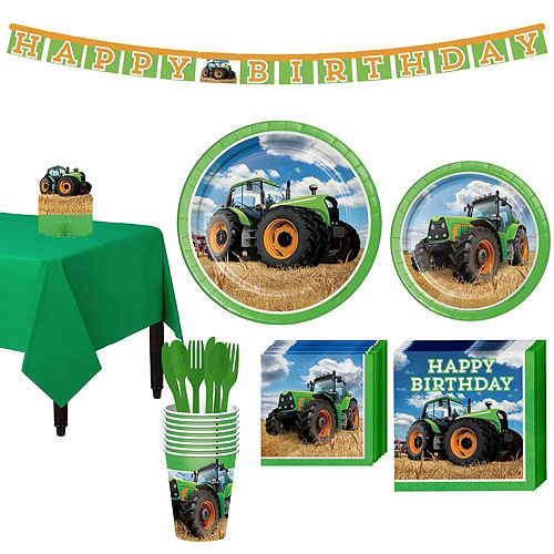 Tractor Tableware Party Kit for 8 Guests Image #1