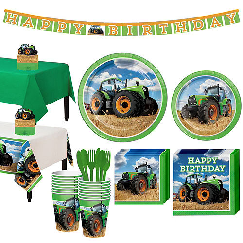 Tractor  Tableware Party Kit for 16 Guests Image #1
