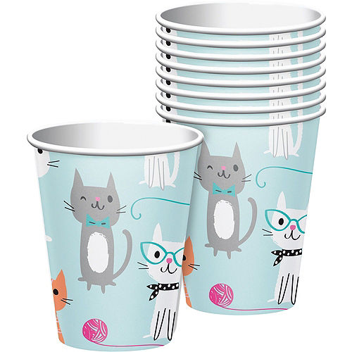 Purrfect Cat Tableware Party Kit for 24 Guests Image #6