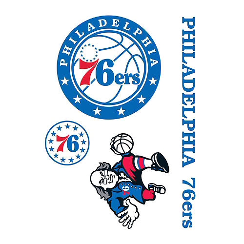Philadelphia 76ers Decals 4ct Image #1