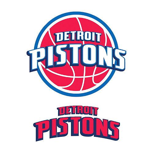 Detroit Pistons Decals 5ct Image #1