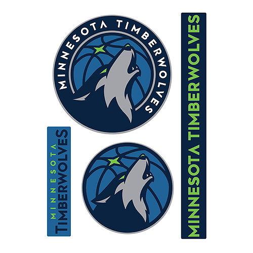 Minnesota Timberwolves Decals 4ct Image #1