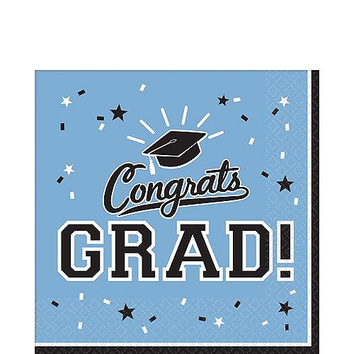 Pastel Blue Congrats Grad Lunch Napkins 36ct Image #1