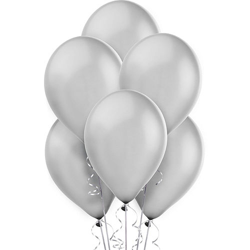 Air-Filled Blue & Silver 2021 Balloon Backdrop Image #3
