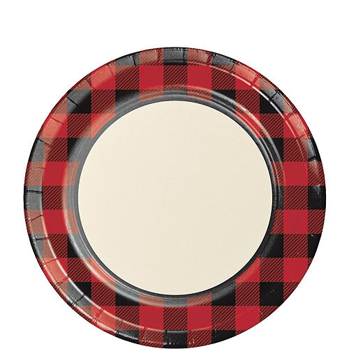 Buffalo Plaid Tableware Kit for 16 Guests Image #3