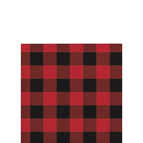 Buffalo Plaid Tableware Kit for 16 Guests Image #4