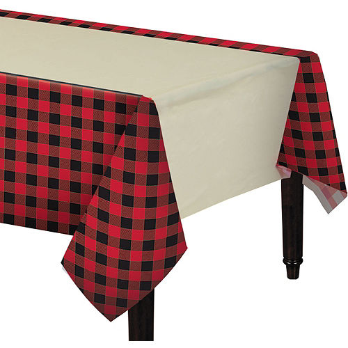 Buffalo Plaid Tableware Kit for 16 Guests Image #7