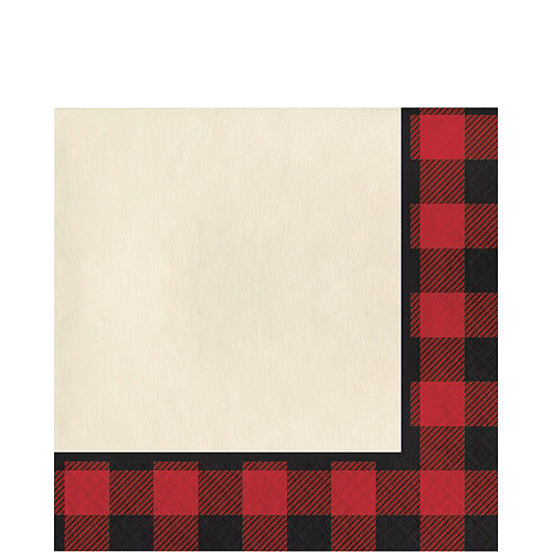 Buffalo Plaid Tableware Kit for 32 Guests Image #5