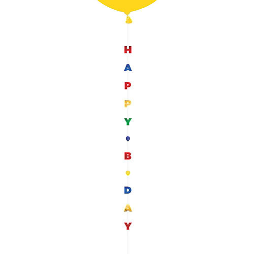 Primary Happy B Day Balloon Tail Image #1