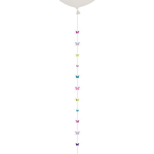 Pastel Butterflies Balloon Tail Image #1