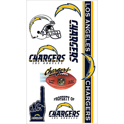 Los Angeles Chargers Tattoos 7ct Image #1
