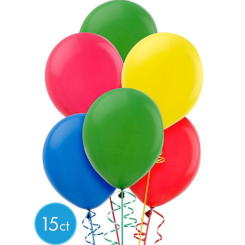 Balloon Time Small Helium Tank with 15 Balloons & Ribbon Image #2