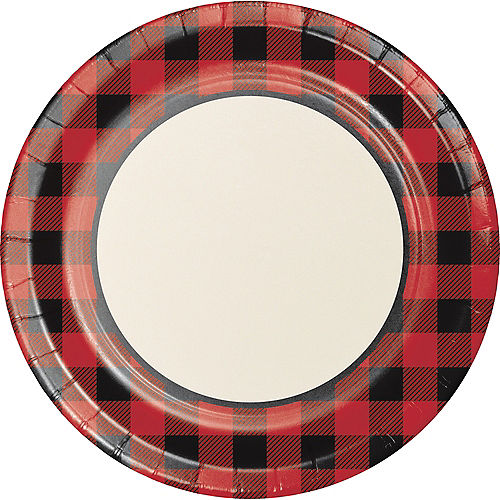 Buffalo Plaid Paper Dinner Plates, 10in, 8ct Image #1