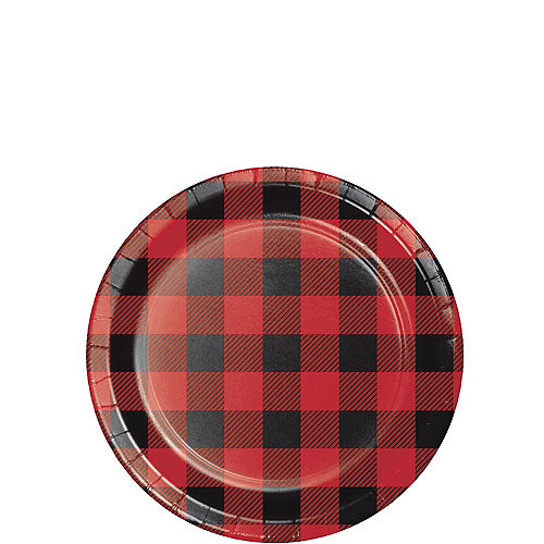 Buffalo Plaid Paper Dessert Plates, 7in, 8ct Image #1