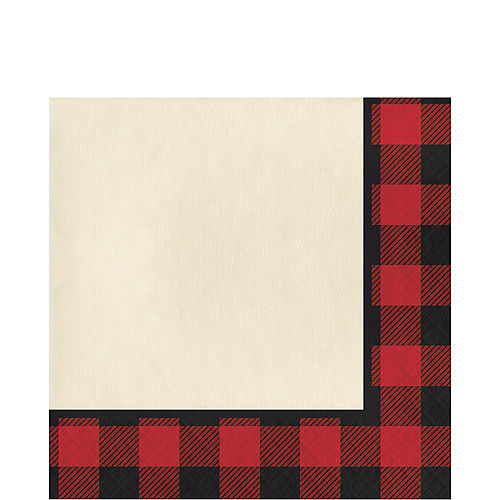 Buffalo Plaid Paper Lunch Napkins, 6.5in, 16ct Image #1