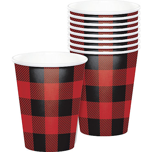 Buffalo Plaid Paper Cups, 9oz, 8ct Image #1