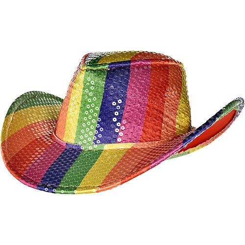 Sequin Rainbow Cowboy Hat Image #1
