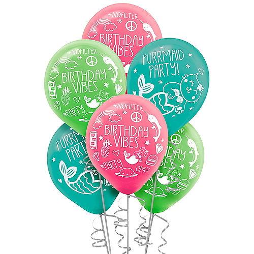 Selfie Celebration Birthday Balloons 6ct Image #1