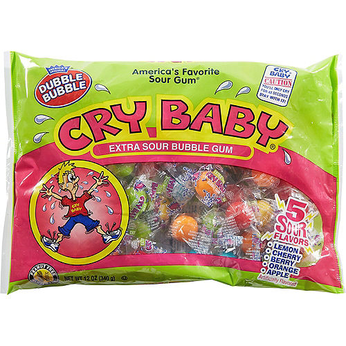 Cry Baby Extra Sour Bubble Gum 61pc Image #1