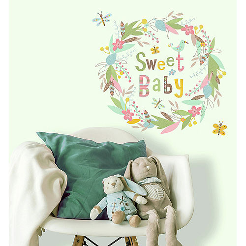 Sweet Baby Wreath Wall Decals 6ct Image #1