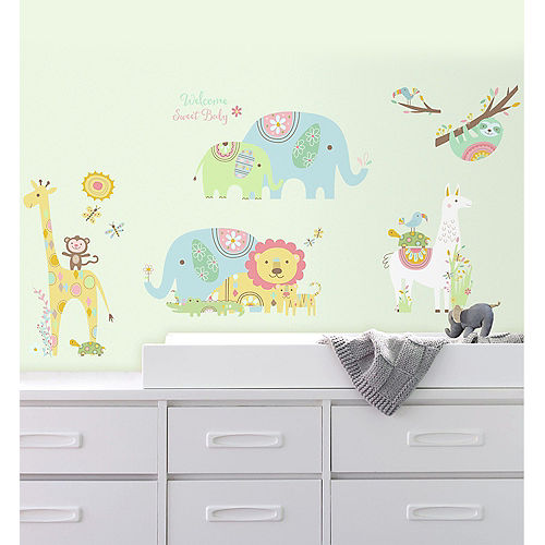 Jungle Animals Wall Decals 15ct Image #1