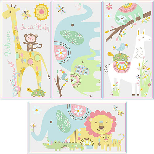Jungle Animals Wall Decals 15ct Image #3