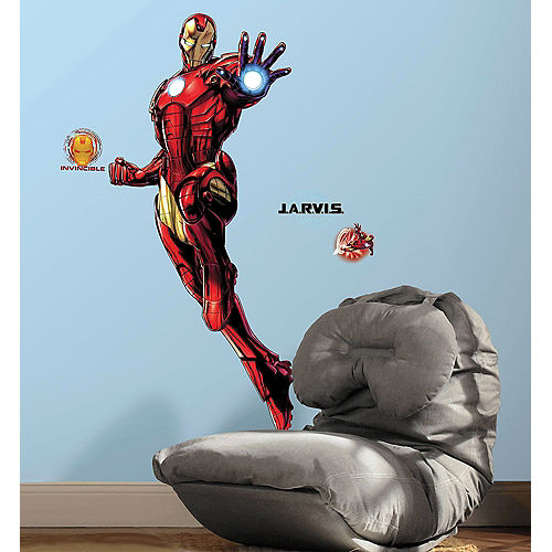 Iron Man Wall Decals 9pc - Avengers Image #1