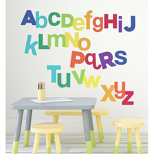 Multicolored Alphabet Letters Wall Decals 27ct Image #1