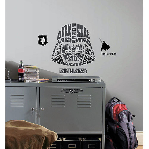 Typographic Darth Vader Wall Decals 9ct - Star Wars Image #1