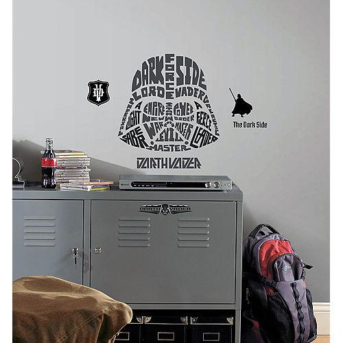 Typographic Darth Vader Wall Decals 9ct - Star Wars Image #1