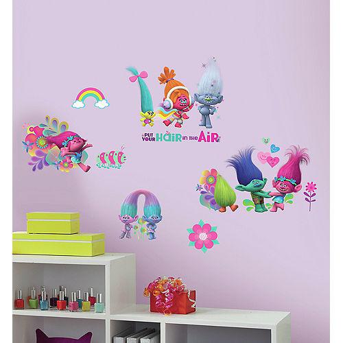Glitter Trolls Wall Decals 24ct Image #1