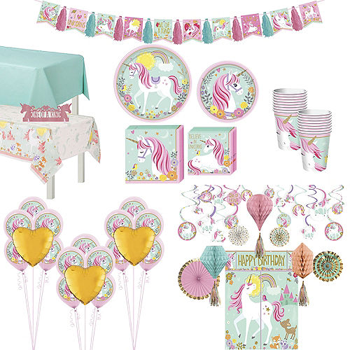 Magical Unicorn Tableware Ultimate Kit for 16 Guests Image #1