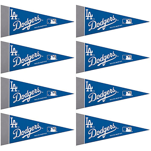 Mini Los Angeles Dodgers Pennant Flags 8ct Image #1